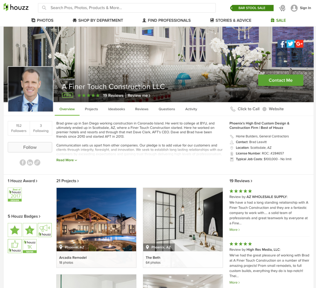 AFT Houzz Page